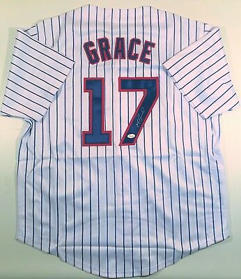 Mark Grace Signed/autographed Cubs Custom Pinstripe Jersey Jsa W Authenticated