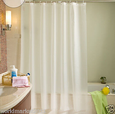 New Fashion White PEVA Waterproof Environmental Bathroom Shower Curtains