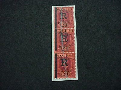 NobleSpirit (TH1) Fantastic FIJI Revenue Strip Of 3 On Piece!!