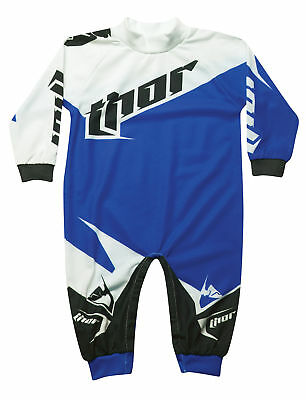 Thor Motocross Tilt One Piece Pajamas S6 Infant Blue 0-6 Months