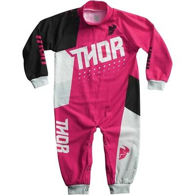 Thor Motocross One Piece Pajamas S7 Infant Pink/Black 18-24 Months
