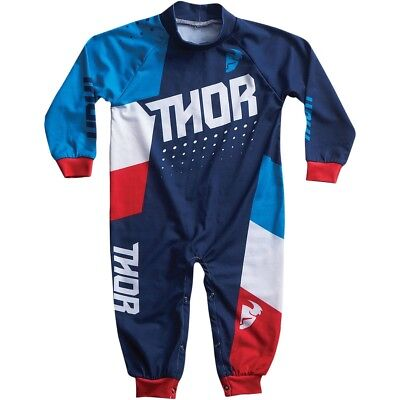 Thor Motocross One Piece Pajamas S7 Infant Blue/Red 12-18 Months