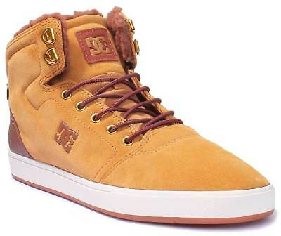 DC Shoes Mens Crisis High Nubuck Leather Wheat High-top Shoes