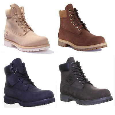 TIMBERLAND PREMIUM 6INCH Mens Waterproof Ankle boots In Navy