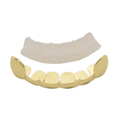 Gold Plated Grillz Vampire Hip Hop Teeth Grills Caps Top Grill Six Tooth Jewelry