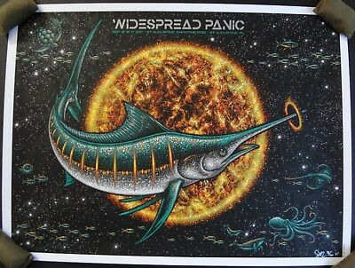 Widespread Panic St. Augustine '17 Marlin Todd Slater Artist Edition Poster S/N