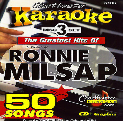 Karaoke 3 CD+G Chartbuster 5106 Ronnie Milsap Grattest Hits includes Song List