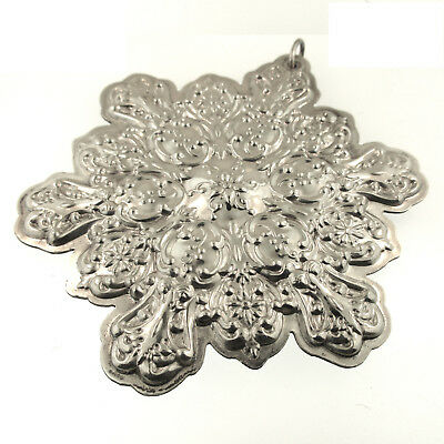 Towle Snowflake Ornament 1991 Sterling Silver Christmas Remembrance Old Master