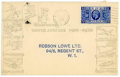 GB 1935 Silver Jubilee 21/2d on RARE Robson Lowe illustrated FDC