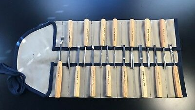 Pfeil Swiss Made 15 Piece Wood Carving Gouge Veiner Chissel Tool Set