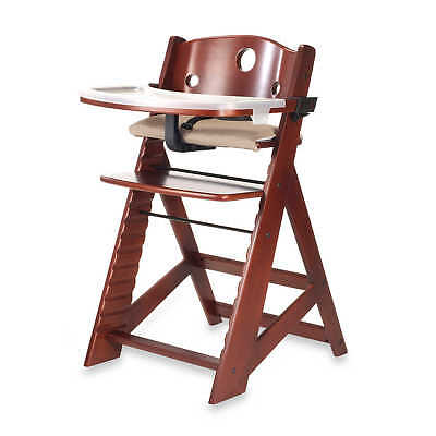 Keekaroo Height Right High Adjustable High Foot Chair with Tray in Mahogony