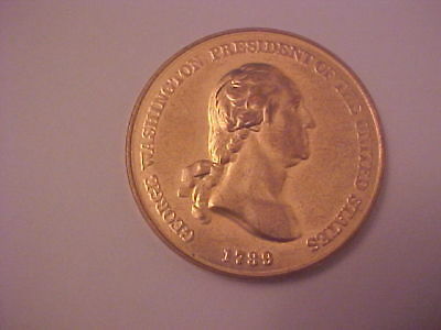 George Washington Peace And Friendship 1789 Bronze Medal