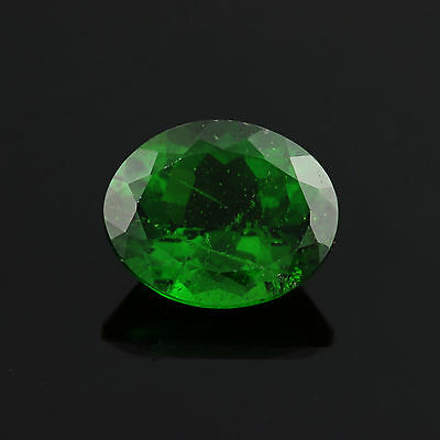2.83ct Loose Chrome Diopside Gemstone - Green Oval Genuine 10mm x 8.12mm
