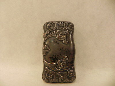 Sterling Silver Art Nouveau Style Antique Vesta Case Match Keep No Mono 18 Grams