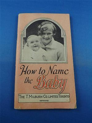 How To Name The Baby Book Milburns Heart And Nerve Pills Milburn Co. Canada 1927