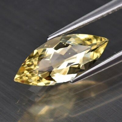 1.42ct 13.5x5.7mm Clean Marquise Natural Yellow Beryl, Madagascar