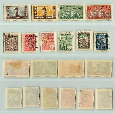 Lithuania, 1934, SC 286-295, mint or used. rta6126
