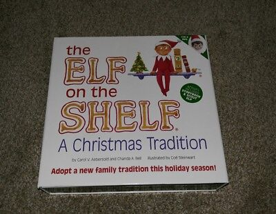 The Elf on the Shelf A Christmas Tradition Boy Scout Elf Doll and Book Set NEW