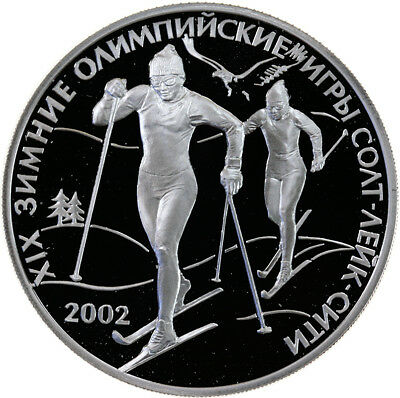 3 Rubel 2002, Russland, Silber, PP/Proof, Olympiade Salt Lake City, Parch. 1097
