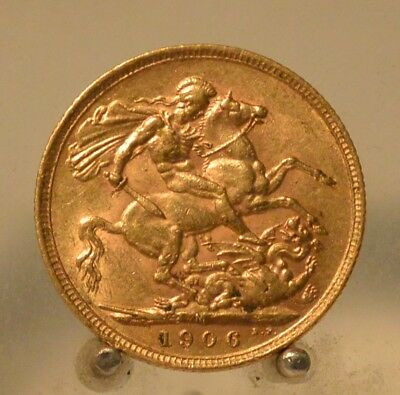 Australia 1906 M Gold Sovereign, Old Gold Coin, .2354 OZ Actual Gold Weight