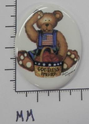70242    Porcelain -  Bear sitting - American Flag / Oval  30x40  - by each SALE