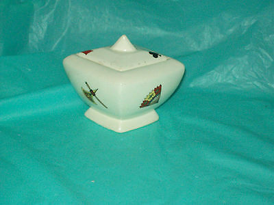 American Limoges Casino Card Suits Dish/Sugar Dish