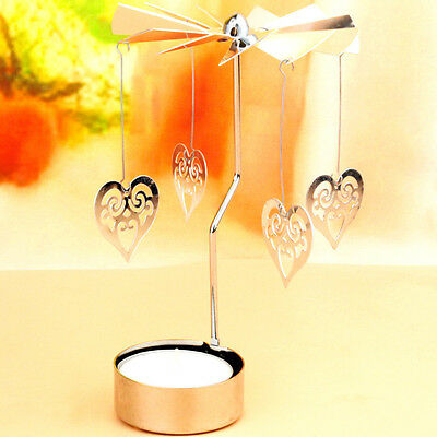 Rotating Metal Carousel Tea Light Candle Holder Candelabrum Xmas Romantic NEW