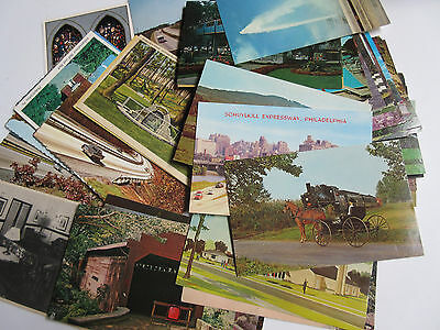 PENNSYLVANIA Lot of 63 Vintage Continental Size and Mostly Standard Postcards