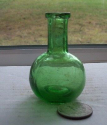 Fancy Green Victorian Perfume Bottle