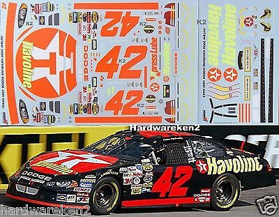 NASCAR DECAL #42 HAVOLINE 2004 DODGE JAMIE McMURRAY JWTBM