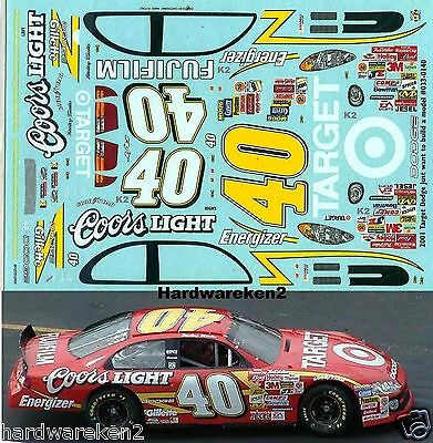 Nascar Decal #40 Target / Coors Light 2001 Dodge Sterling Marlin Jwtbm