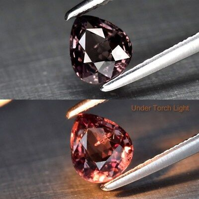 0.81ct 5.9x5.1mm Pear Natural Unheated Color Change Garnet, Africa