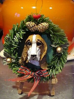 Beagle  Christmas Wreath Ornament