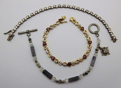 3 ~ MISCELLANEOUS Sterling Silver Ladies Bracelets