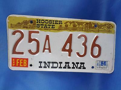 Indiana License Plate Collector 1984 25A436 Hoosier State Usa Man Cave Shop Sign