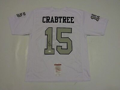 MICHAEL CRABTREE autographed signed Raiders color rush Jersey JSA Witness