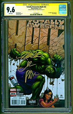 Totally Awesome Hulk #23 (2017 Marvel) Signed Frank Cho & Greg Pak SS CGC 9.6
