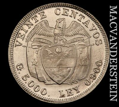 Colombia: 1938 Twenty Centavos - Gem  Brilliant Uncirculated!!  #w562