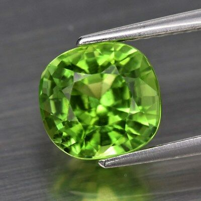 2.16ct 7.4x7mm Cushion Natural Untreated Green Peridot, Pakistan