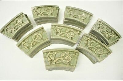 Lot of 25 Old PEWABIC TILES Green Arts & Crafts Period NO/RESERVE AUCTION