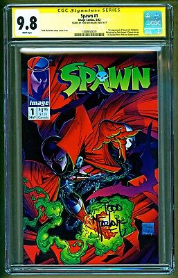 Spawn #1 (1992 Image) 1st appearance Al Simmons Signed Todd McFarlane SS CGC 9.8