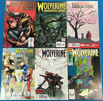 WOLVERINE lot of (6) different issues (1990-2014) Marvel Comics FINE