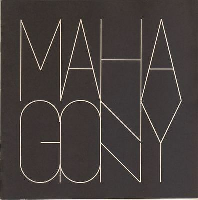 """Souvenir Program """"The Rise and Fall of the City of Mahagonny"""" Brecht Weill 1970"""