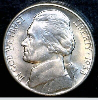 1938 CH BU Jefferson Nickel Coin from roll NICE 1st Year Issue LOT 10 NO RESERVE