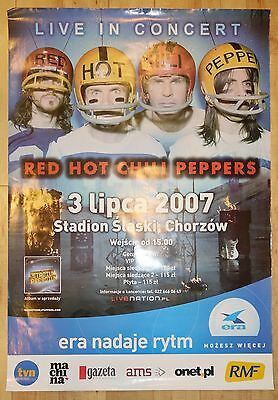 2007 Red Hot Chili Peppers - Katowice Promo Concert Poster