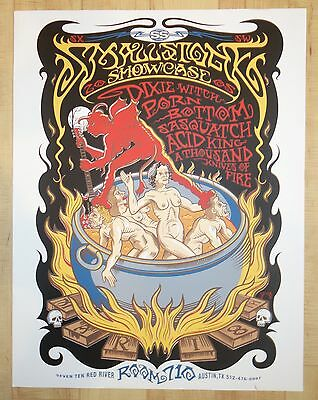 2005 Porn & Acid King - SXSW Austin Silkscreen Concert Poster by Mike Saputo