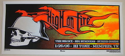 2006 High on Fire - Memphis - Silkscreen Concert Poster S/N by Martin