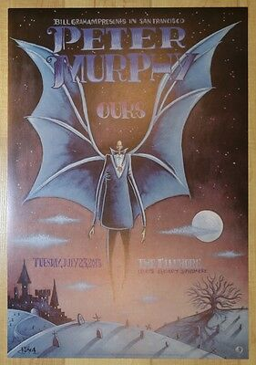 2013 Peter Murphy - San Francisco Concert Poster signed by J. Shea