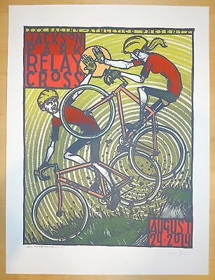 2014 Jackson Park Relay Cross - Chicago Silkscreen Event Poster S/N by Jay Ryan