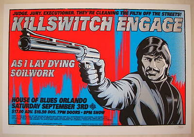 2005 Killswitch Engage - Silkscreen Concert Poster by Stainboy - Charles Bronson